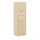 Salsbury Industries 3814S-1CSF Surface Mounted 4C Horizontal Collection Box (Includes 3714S-1CSF and 3814S-SAN Enclosure) - Single Column - Sandstone - Front Access