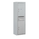 Salsbury Industries 3814S-2PAFP Surface Mounted 4C Horizontal Mailbox Unit-14 Door High Unit (52-5/8 Inches)-Single Column-Stand-Alone Parcel Locker-2 PL6's-Aluminum-Front Loading-Private Access