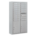 Salsbury Industries 3815D-15AFP Surface Mounted 4C Horizontal Mailbox Unit - 15 Door High Unit (56-1/8 Inches) - Double Column - 15 MB1 Doors / 2 PL6's - Aluminum - Front Loading - Private Access
