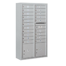 Salsbury Industries 3815D-20AFP Surface Mounted 4C Horizontal Mailbox Unit - 15 Door High Unit (56-1/8 Inches) - Double Column - 20 MB1 Doors / 2 PL4's - Aluminum - Front Loading - Private Access