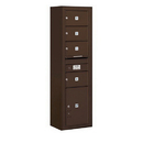 Salsbury Industries 3815S-04ZFP Surface Mounted 4C Horizontal Mailbox Unit - 15 Door High Unit (56-1/8 Inches) - Single Column - 4 MB2 Doors / 1 PL5 - Bronze - Front Loading - Private Access