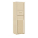 Salsbury Industries 3815S-1CSF Surface Mounted 4C Horizontal Collection Box (Includes 3715S-1CSF and 3815S-SAN Enclosure) - Single Column - Sandstone - Front Access