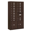 Salsbury Industries 3816D-19ZFU Surface Mounted 4C Horizontal Mailbox Unit - Maximum Height Unit (57-7/8 Inches) - Double Column - 19 MB1 Doors / 2 PL4.5's - Bronze - Front Loading - USPS Access