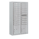 Salsbury Industries 3816D-20AFU Surface Mounted 4C Horizontal Mailbox Unit - Maximum Height Unit (57-7/8 Inches) - Double Column - 20 MB1 Doors / 2 PL4.5's - Aluminum - Front Loading - USPS Access