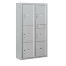 Salsbury Industries 3816D-6PAFP Surface Mounted 4C Horizontal Mailbox Unit-Maximum Height Unit(57-7/8 Inches)-Double Column-Stand-Alone Parcel Locker-Aluminum-Front Loading