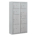 Salsbury Industries 3816D-8PAFU Surface Mounted 4C Horizontal Mailbox Unit-Maximum Height Unit(57-7/8 Inches)-Double Column-Stand-Alone Parcel Locker-Aluminum-Front Loading
