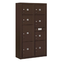 Salsbury Industries 3816D-8PZFP Surface Mounted 4C Horizontal Mailbox Unit-Maximum Height Unit(57-7/8 Inches)-Double Column-Stand-Alone Parcel Locker-Bronze-Front Loading