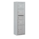 Salsbury Industries 3816S-03AFP Surface Mounted 4C Horizontal Mailbox Unit - Maximum Height Unit (57-7/8 Inches) - Single Column - 3 MB3 Doors / 1 PL4.5 - Aluminum - Front Loading - Private Access