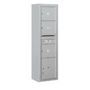 Salsbury Industries 3816S-03AFU Surface Mounted 4C Horizontal Mailbox Unit - Maximum Height Unit (57-7/8 Inches) - Single Column - 3 MB3 Doors / 1 PL4.5 - Aluminum - Front Loading - USPS Access