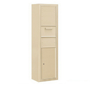 Salsbury Industries 3816S-1CSF Surface Mounted 4C Horizontal Collection Box (Includes 3716S-1CSF and 3816S-SAN Enclosure) - Single Column - Sandstone - Front Access