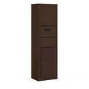 Salsbury Industries 3816S-1CZF Surface Mounted 4C Horizontal Collection Box (Includes 3716S-1CZF and 3816S-BRZ Enclosure) - Single Column - Bronze - Front Access