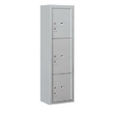 Salsbury Industries 3816S-3PAFP Surface Mounted 4C Horizontal Mailbox Unit-Maximum Height Unit (57-7/8 Inches)-Single Column-Stand-Alone Parcel Locker-1 PL4.5/1 PL5 and 1 PL6-Aluminum-Front Loading