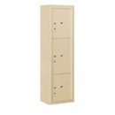 Salsbury Industries 3816S-3PSFU Surface Mounted 4C Horizontal Mailbox Unit-Maximum Height Unit(57-7/8 Inches)-Single Column-Stand-Alone Parcel Locker-Sandstone-Front Loading-USPS Access
