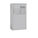 Salsbury Industries 3905D-08AFP Free-Standing 4C Horizontal Mailbox Unit - 5 Door High Unit (48-1/4 Inches) - Double Column - 8 MB1 Doors - Aluminum - Front Loading - Private Access
