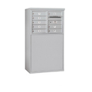 Salsbury Industries 3905D-08AFU Free-Standing 4C Horizontal Mailbox Unit - 5 Door High Unit (48-1/4 Inches) - Double Column - 8 MB1 Doors - Aluminum - Front Loading - USPS Access