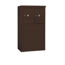 Salsbury Industries 3905D-2PZFP Free-Standing 4C Horizontal Mailbox Unit-5 Door High Unit (48-1/4 Inches)-Double Column-Stand-Alone Parcel Locker-2 PL5's-Bronze-Front Loading-Private Acce
