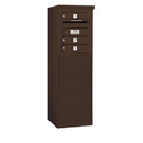 Salsbury Industries 3905S-03ZFP Free-Standing 4C Horizontal Mailbox Unit - 5 Door High Unit (48-1/4 Inches) - Single Column - 3 MB1 Doors - Bronze - Front Loading - Private Access