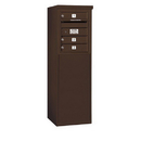 Salsbury Industries 3905S-03ZFU Free-Standing 4C Horizontal Mailbox Unit - 5 Door High Unit (48-1/4 Inches) - Single Column - 3 MB1 Doors - Bronze - Front Loading - USPS Access