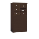 Salsbury Industries 3906D-05ZFP Free-Standing 4C Horizontal Mailbox Unit - 6 Door High Unit (51-3/4 Inches) - Double Column - 5 MB2 Doors - Bronze - Front Loading - Private Access