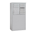 Salsbury Industries 3906D-06AFP Free-Standing 4C Horizontal Mailbox Unit - 6 Door High Unit (51-3/4 Inches) - Double Column - 6 MB1 Doors / 1 PL4 - Aluminum - Front Loading - Private Access