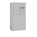 Salsbury Industries 3906D-09AFP Free-Standing 4C Horizontal Mailbox Unit - 6 Door High Unit (51-3/4 Inches) - Double Column - 9 MB1 Doors - Aluminum - Front Loading - Private Access