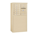 Salsbury Industries 3906D-09SFP Free-Standing 4C Horizontal Mailbox Unit - 6 Door High Unit (51-3/4 Inches) - Double Column - 9 MB1 Doors - Sandstone - Front Loading - Private Access