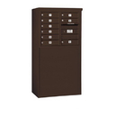 Salsbury Industries 3906D-09ZFP Free-Standing 4C Horizontal Mailbox Unit - 6 Door High Unit (51-3/4 Inches) - Double Column - 9 MB1 Doors - Bronze - Front Loading - Private Access