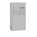 Salsbury Industries 3906D-10AFP Free-Standing 4C Horizontal Mailbox Unit - 6 Door High Unit (51-3/4 Inches) - Double Column - 10 MB1 Doors - Aluminum - Front Loading - Private Access