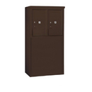 Salsbury Industries 3906D-2PZFP Free-Standing 4C Horizontal Mailbox Unit-6 Door High Unit (51-3/4 Inches)-Double Column-Stand-Alone Parcel Locker-2 PL6's-Bronze-Front Loading-Private Acce