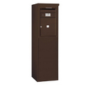 Salsbury Industries 3906S-01ZFP Free-Standing 4C Horizontal Mailbox Unit - 6 Door High Unit (51-3/4 Inches) - Single Column - 1 MB4 Door - Bronze - Front Loading - Private Access