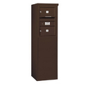 Salsbury Industries 3906S-02ZFP Free-Standing 4C Horizontal Mailbox Unit - 6 Door High Unit (51-3/4 Inches) - Single Column - 2 MB2 Doors - Bronze - Front Loading - Private Access