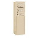 Salsbury Industries 3906S-04SFU Free-Standing 4C Horizontal Mailbox Unit - 6 Door High Unit (51-3/4 Inches) - Single Column - 4 MB1 Doors - Sandstone - Front Loading - USPS Access