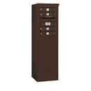 Salsbury Industries 3906S-04ZFP Free-Standing 4C Horizontal Mailbox Unit - 6 Door High Unit (51-3/4 Inches) - Single Column - 4 MB1 Doors - Bronze - Front Loading - Private Access