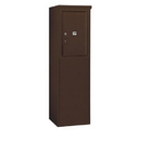 Salsbury Industries 3906S-1PZFP Free-Standing 4C Horizontal Mailbox Unit - 6 Door High Unit (51-3/4 Inches) - Single Column - Stand-Alone Parcel Locker - Bronze - Front Loading - Private Access