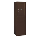 Salsbury Industries 3906S-1PZFU Free-Standing 4C Horizontal Mailbox Unit - 6 Door High Unit (51-3/4 Inches) - Single Column - Stand-Alone Parcel Locker - 1 PL6 - Bronze - Front Loading - USPS Access