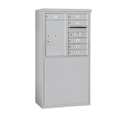 Salsbury Industries 3907D-06AFP Free-Standing 4C Horizontal Mailbox Unit - 7 Door High Unit (55-1/4 Inches) - Double Column - 6 MB1 Doors / 1 PL6 - Aluminum - Front Loading - Private Access