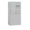Salsbury Industries 3908D-04AFP Free-Standing 4C Horizontal Mailbox Unit - 8 Door High Unit (58-3/4 Inches) - Double Column - 4 MB2 Doors / 1 PL6 - Aluminum - Front Loading - Private Access