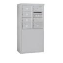 Salsbury Industries 3908D-07AFP Free-Standing 4C Horizontal Mailbox Unit - 8 Door High Unit (58-3/4 Inches) - Double Column - 7 MB2 Doors - Aluminum - Front Loading - Private Access