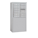 Salsbury Industries 3908D-13AFP Free-Standing 4C Horizontal Mailbox Unit - 8 Door High Unit (58-3/4 Inches) - Double Column - 13 MB1 Doors - Aluminum - Front Loading - Private Access