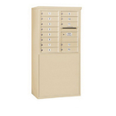 Salsbury Industries 3908D-13SFP Free-Standing 4C Horizontal Mailbox Unit - 8 Door High Unit (58-3/4 Inches) - Double Column - 13 MB1 Doors - Sandstone - Front Loading - Private Access