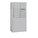 Salsbury Industries 3908D-14AFP Free-Standing 4C Horizontal Mailbox Unit - 8 Door High Unit (58-3/4 Inches) - Double Column - 14 MB1 Doors - Aluminum - Front Loading - Private Access
