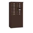 Salsbury Industries 3908D-14ZFP Free-Standing 4C Horizontal Mailbox Unit - 8 Door High Unit (58-3/4 Inches) - Double Column - 14 MB1 Doors - Bronze - Front Loading - Private Access