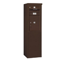 Salsbury Industries 3908S-01ZFP Free-Standing 4C Horizontal Mailbox Unit - 8 Door High Unit (58-3/4 Inches) - Single Column - 1 MB1 Door / 1 PL5 - Bronze - Front Loading - Private Access