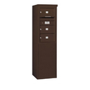 Salsbury Industries 3908S-03ZFU Free-Standing 4C Horizontal Mailbox Unit - 8 Door High Unit (58-3/4 Inches) - Single Column - 3 MB2 Doors - Bronze - Front Loading - USPS Access