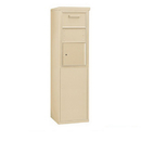 Salsbury Industries 3908S-1CSF Free-Standing 4C Horizontal Collection Box (Includes 3708S-1CSF and 3908S-SAN Enclosure) - 8 Door High Unit (58-3/4 Inches) - Single Column - Sandstone - Front Access