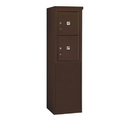 Salsbury Industries 3908S-2PZFP Free-Standing 4C Horizontal Mailbox Unit-8 Door High Unit (58-3/4 Inches)-Single Column-Stand-Alone Parcel Locker-2 PL4's-Bronze-Front Loading-Private Acce