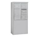 Salsbury Industries 3909D-03AFU Free-Standing 4C Horizontal Mailbox Unit - 9 Door High Unit (62-1/4 Inches) - Double Column - 3 MB3 Doors / 1 PL6 - Aluminum - Front Loading - USPS Access