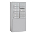 Salsbury Industries 3909D-15AFP Free-Standing 4C Horizontal Mailbox Unit - 9 Door High Unit (62-1/4 Inches) - Double Column - 15 MB1 Doors - Aluminum - Front Loading - Private Access