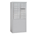Salsbury Industries 3909D-16AFP Free-Standing 4C Horizontal Mailbox Unit - 9 Door High Unit (62-1/4 Inches) - Double Column - 16 MB1 Doors - Aluminum - Front Loading - Private Access