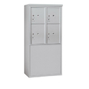 Salsbury Industries 3909D-4PAFU Free-Standing 4C Horizontal Mailbox Unit-9 Door High Unit(62-1/4 Inches)-Double Column-Stand-Alone Parcel Locker-2 PL4's/2 PL5's-Aluminum-Front Loading-USPS Access